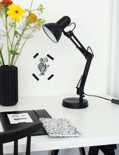 lampara de escritorio negra-8553ZW
