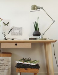 lampara de escritorio verde-7655G