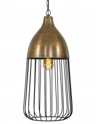 lampara de jaula bronce undine-1542BR