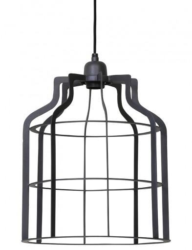 lampara de jaula gris-1758GR