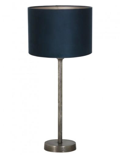 lampara de laton en azul-9272ZW