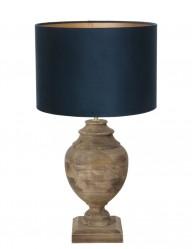 lampara de madera azul milazzo-9992B