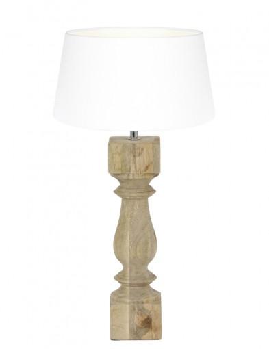 lampara de madera blanca-9185BE