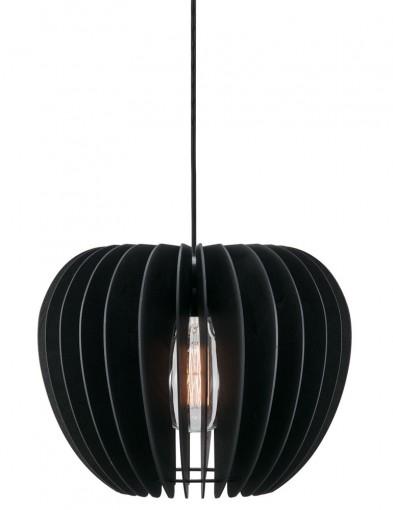 lampara de madera negra-2386ZW