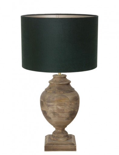 lampara de madera verde milazzo-9991B