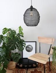 lampara de malla de metal negro-1377ZW
