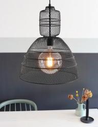 lampara de malla en negro-1568ZW