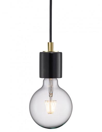 lampara de marmol negra y dorada-2376ZW