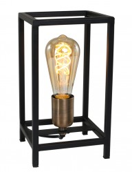 lampara de mesa abierta negro-1687ZW