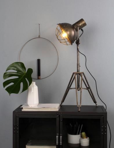 lampara de mesa acero envejecido-1383ZI