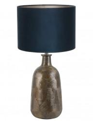 lampara de mesa azul flatey-9198BR