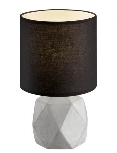 lampara de mesa base de hormigon y negra-1844GR
