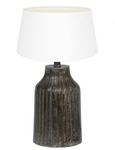 lampara de mesa blanca y gris tomi-9292ZW