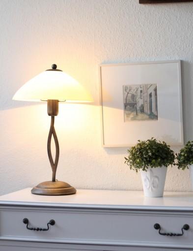 lampara de mesa clasica-6842BR