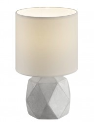 lampara de mesa con base de hormigon blanca-1843GR