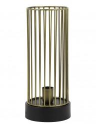 lampara de mesa con jaula dorada-1959BR