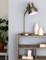lampara de mesa de acero cepillado-1929ST
