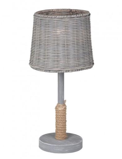 lampara de mesa de ratan-1613GR