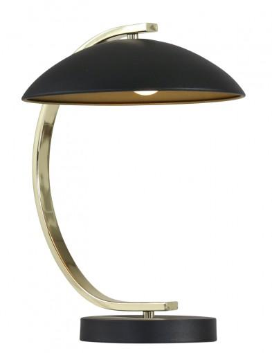lampara de mesa esferica en negro y dorado-1645ZW