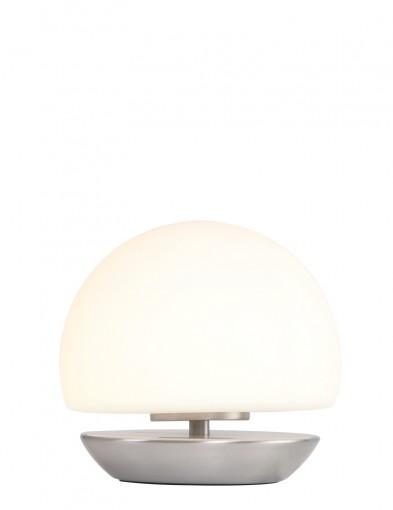 lampara de mesa esferica led acero-7932ST