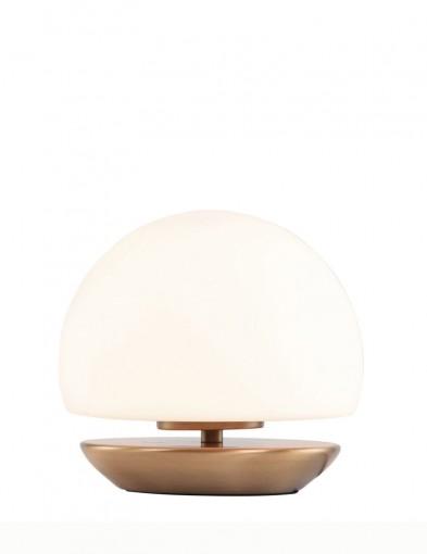 lampara de mesa esferica led bronce-7932BR