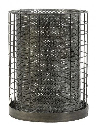 lampara de mesa gris-1947GR