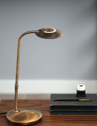 lampara de mesa led bronce-1470BR