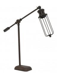 lampara de mesa marron diseno jaula-1937B