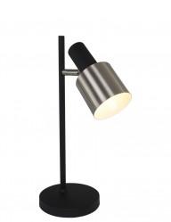 lampara de mesa moderna en acero negro-1701ZW