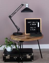 lampara de mesa negra-7702ZW