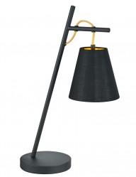 lampara de mesa negra con interior dorado-1656ZW