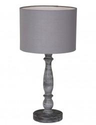 lampara de mesa rustica de madera gris-1641GR