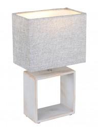 lampara de mesa rustica gris-1647CR