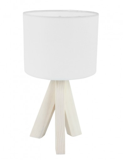 lampara de mesa tripode blanco-1163W