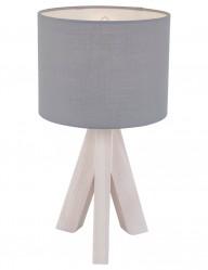 lampara de mesa tripode de madera-1163GR
