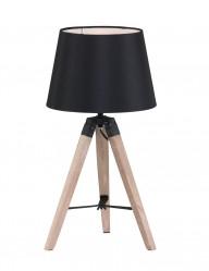 lampara de mesa tripode negro-1566BE
