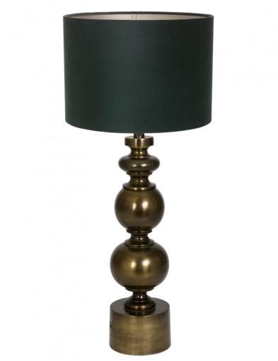 lampara de mesa vintage verde-9266BR