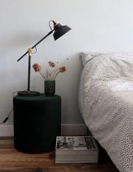 lampara de metal negro-1321zw