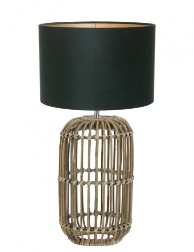 lampara de mimbre verde-9982B