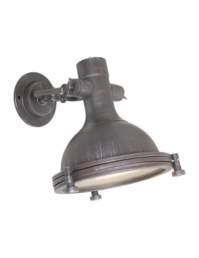 lampara de pared envejecida marron-7967B