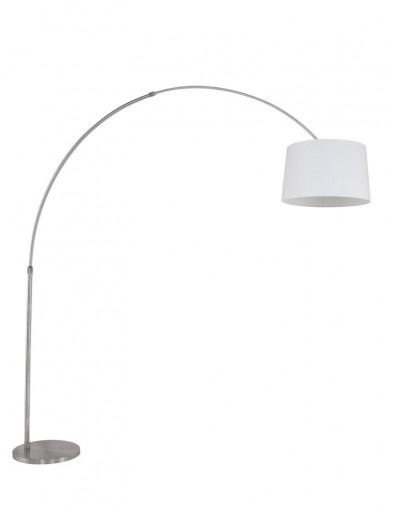 lampara de pie acero en blanco-9674ST