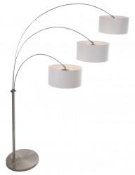 lampara de pie arco tres luces blancas-9958ST