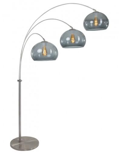 lampara de pie arco tres luces en vidrio-9957ST