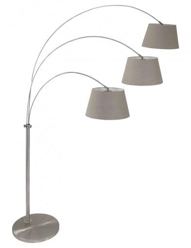 lampara de pie arco tres luces gramineus-9955ST