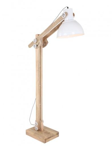 lampara de pie articulada de madera-1228BE