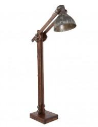 lampara de pie articulada de madera envejecida-1229E