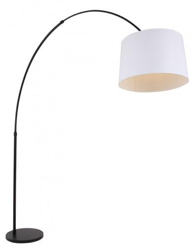 lampara de pie blanca con arco-9828ZW