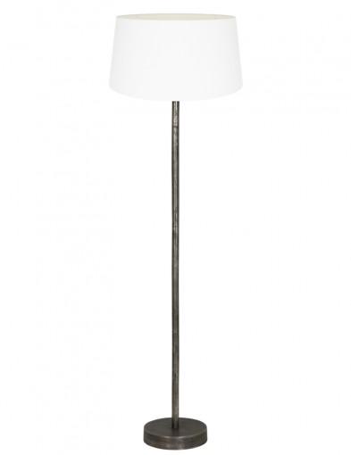 lampara de pie blanca con base de metal-9301ZW