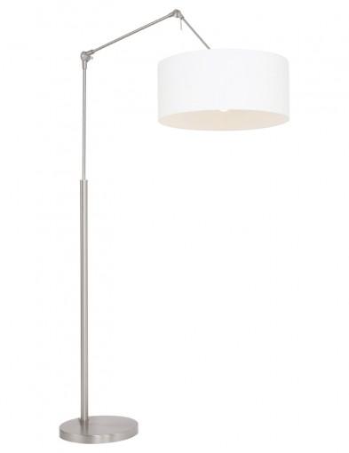 lampara de pie blanca de acero-9897ST
