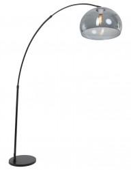 lampara de pie con arco negro-9878ZW